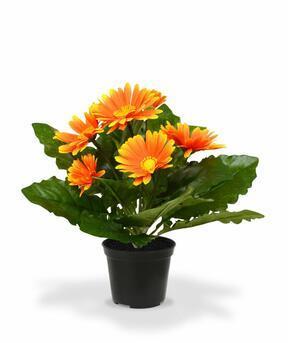 Gerbera kunstplant oranje 30 cm