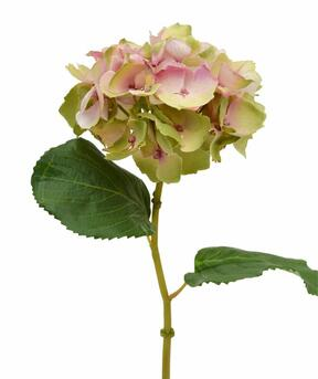 Hortensia kunstbloem roze 45 cm