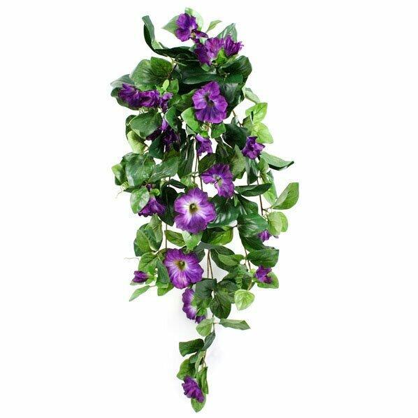Petunia kunstrank paars 80 cm