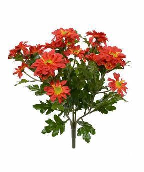 Kunstplant Chrysant oranje 35 cm