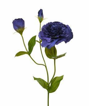 Kunsttak Eustoma blauw 80 cm