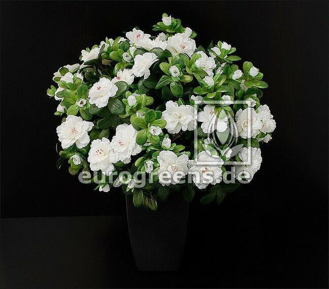 Kunstboeket Belgische Azalea wit 40 cm