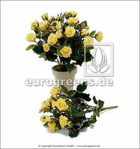 Kunstboeket Gele roos 25 cm