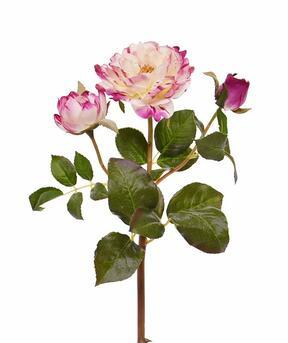 Kunsttak Roze roos 50 cm