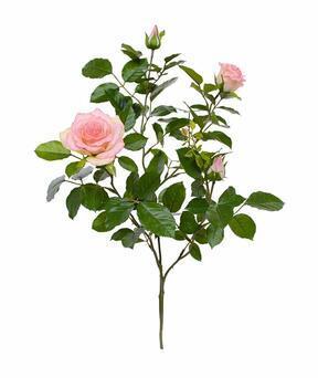 Kunsttak Roze roos 70 cm