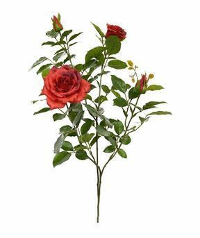 Kunsttak Rode roos 70 cm