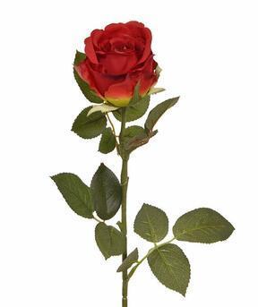 Kunsttak Rode roos 74 cm