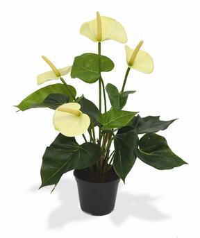 Anthurium kunstplant wit 40 cm