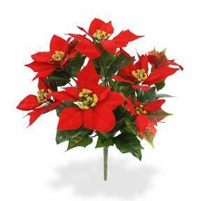 Kunstplant kerstroos rood 40 cm