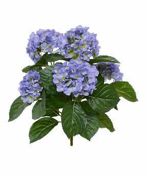 Kunstplant Hortensia blauw 40 cm