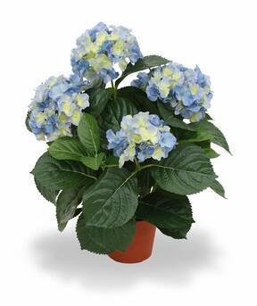Kunstplant Hortensia blauw 45 cm