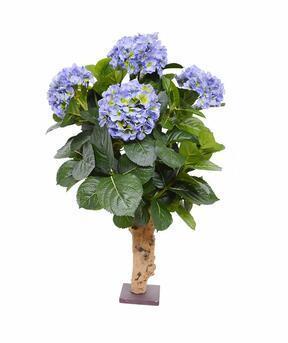 Kunstplant Hortensia blauw 65 cm