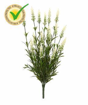 Kunstplant Lavendel wit 50 cm