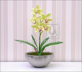 Kunstplant Orchidea Cymbidium lichtgroen 50 cm