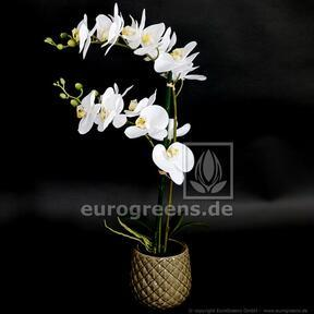 Kunstplant Orchidee wit 65 cm